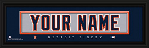 Detroit Tigers Personalized Nameplate MLB framed and customized 24