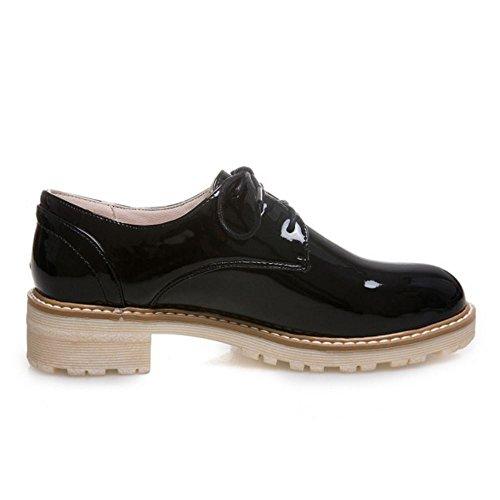 4e1ee134 Zanpa Mujer Moda Cordones Oxford Zapatos Sintetico Charol Durable Modelando