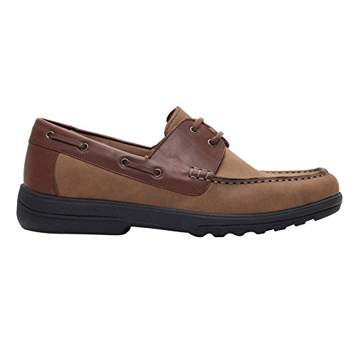 Scarpe da barca uomo Padders | Ampio e profondo | Super Big Size HK | Made in Britain | 30 millimetri tallone | calzascarpe libero Cammello