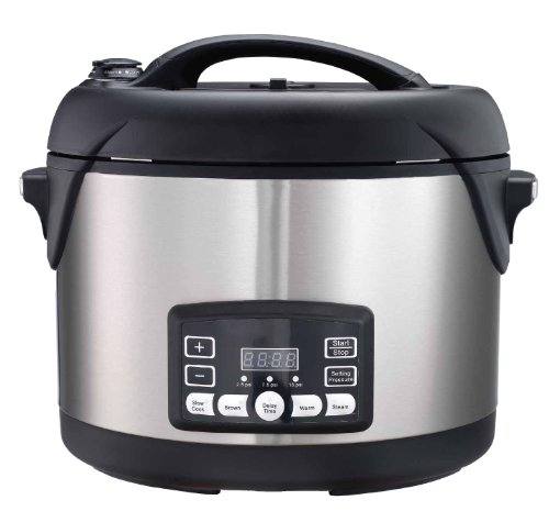 Big Boss 1300-Watt Stainless Steel Oval Pressure Cooker, 8.5-Quart