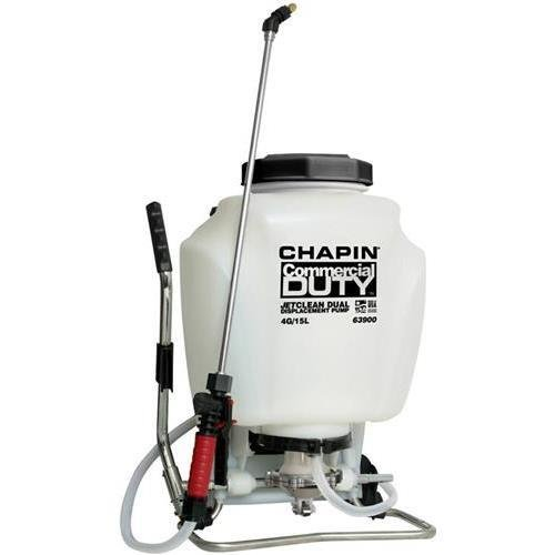 Chapin 63900 Commercial Duty Jet Clean Dual Displacement Pump 4 Gallon Backpack Sprayer