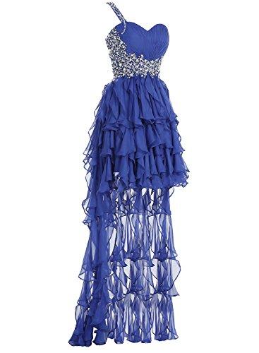 Bbonlinedress Damen Abiballkleid vorne kurz hinten lang Vokuhila Cocktail Kleid mit Schleppe Strass Lilac O6yDAKCjTT