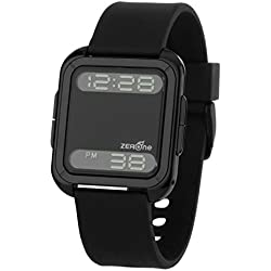 ZERONE Bsquared 2 Ultra Slim Black Aluminum Bezel Digital Watch
