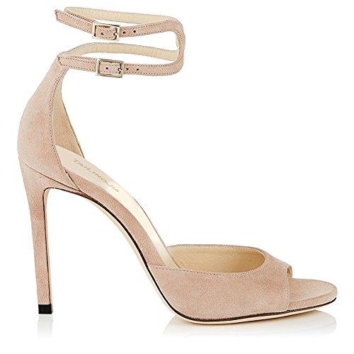Tacco Donna Tacco Shoes Estivo Peep Spillo Tacco 41 da Dimensione Party Un Toe Tacco Alto Spillo Prom HUAN a Colore a Alto Donna Sandali HzKIqwqd
