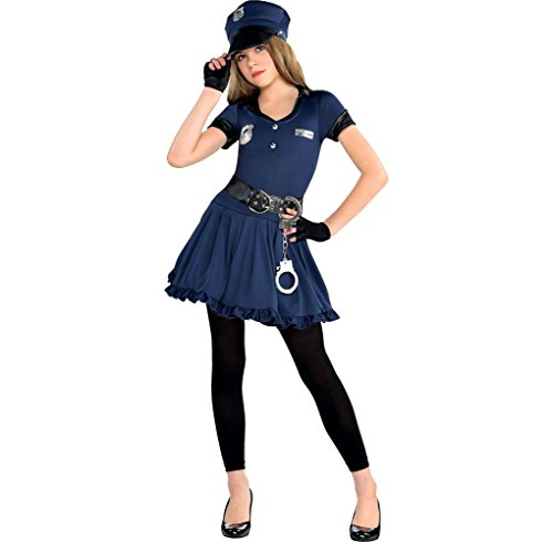 Amscan Cutie Cops & Robbers Party Policewoman Costume,