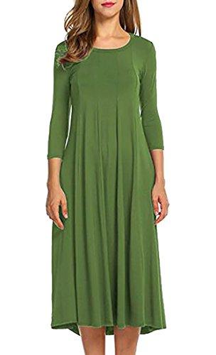 Jaycargogo La Mode Féminine À Manches Longues Robe Casual T-shirt Loose 2