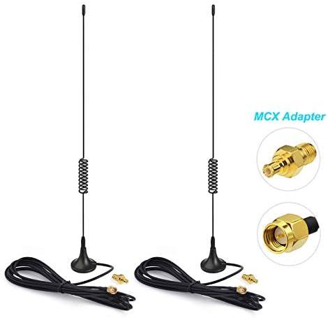 [해외]Bingfu Dual Band 978MHz 1090MHz 5dBi Magnetic Base SMA Male MCX Antenna (2-Pack) for Aviation Dual Band 978MHz 1090MHz ADS-B Receiver RTL SDR Software Defined Radio USB Stick Dongle Tuner Receiver / Bingfu Dual Band 978MHz 1090MHz ...