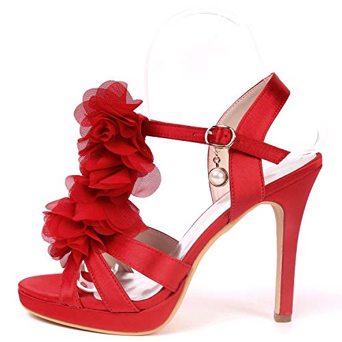 Multicolor Señoras Altos 1 Con Redondo Tacones Las Sandalias Mujer Cm Para 11cms Ivory Toe De Hebilla 5 Plataforma Moojm TIgwqXT