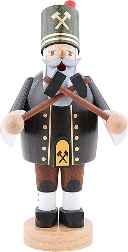 German Incense Smoker Miner with hammer and pick - 20 cm / 8 inch - KWO by Authentic German Erzgebirge Handcraft