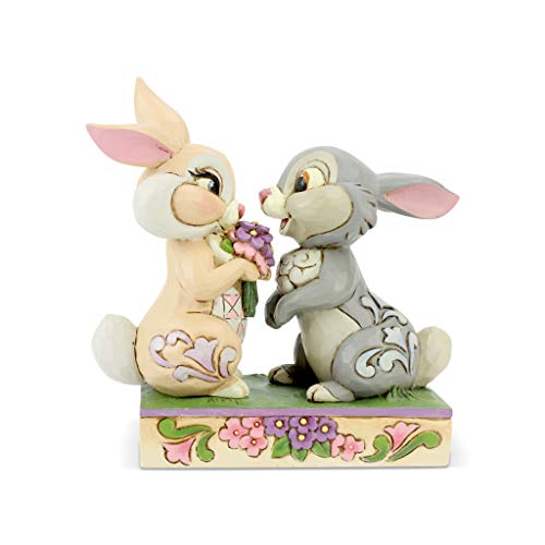 Enesco Disney Traditions by Jim Shore Bambi Thumper and Blossom Bunny Figurine, 4 Inch, Multicolor