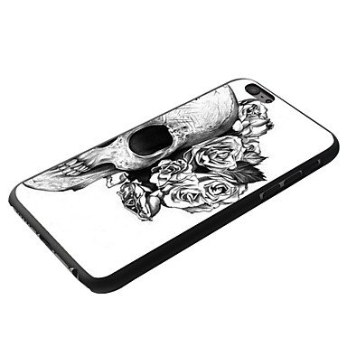 For iPhone 5C Case, Fashion Flowers Skull Pattern Protective Hard Phone Cover Skin Case For iPhone 5C +Screen Protector