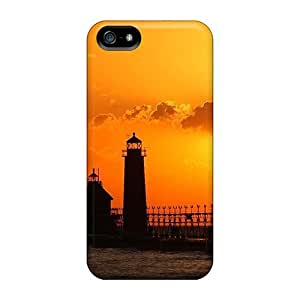 Premium Iphone 5/5s Case - Protective Skin - High Quality For Beautiful Sunset On Lighthouse