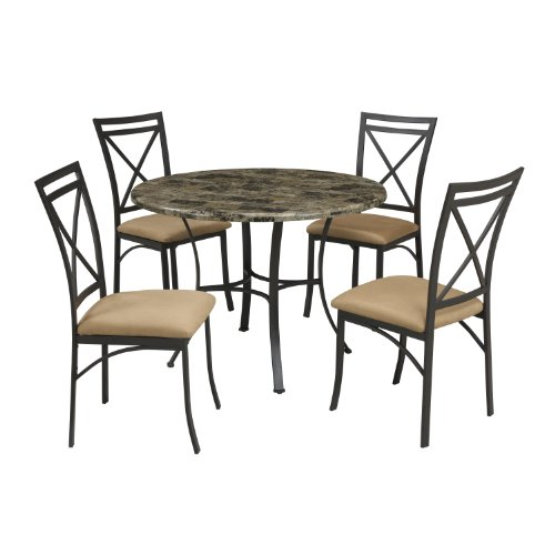 Faux Marble Table From Big Lots: Dorel Living Faux Marble Top Dining Table Set