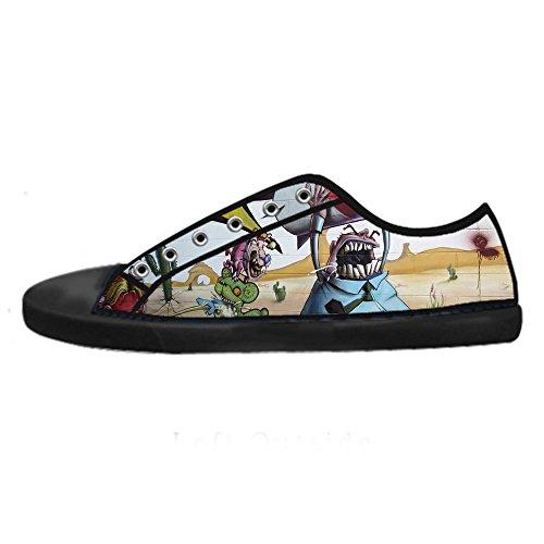 Custom Graffiti Canvas I Lacci Women's Shoes Scarpe Delle Ginnastica Da Alto Tetto qqwdUf
