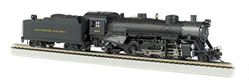 Bachmann Industries Trains Usra Light 2-8-2 Dcc Sound Value Equipped B & O 4508 Medium Tender Ho Scale Steam Locomotive