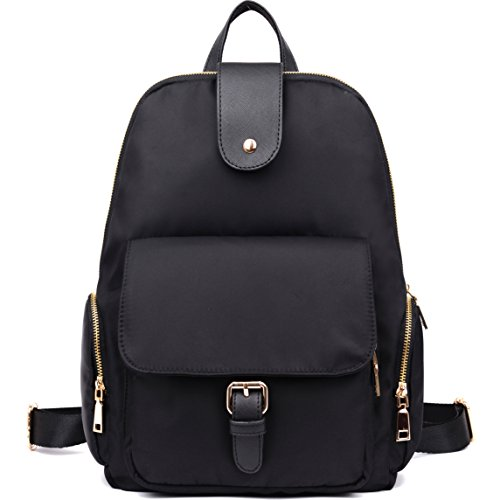 Luckysmile Waterproof Nylon Backpack Casual College School Bags for Women & Girl