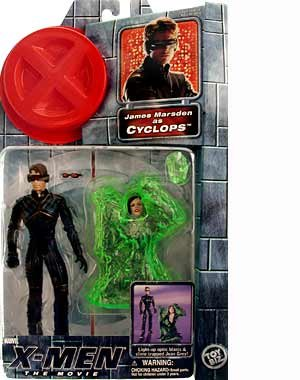 the Movie Series 1 James Marsden As Cyclops Action Figure with Light-up Optic Blasts and Slime Trapped Jean Gray Action Figure X-men