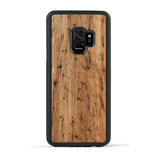 (Carved - Samsung Galaxy S9 - Luxury Protective Traveler Case - Unique Real Wooden Phone Cover - Rubber Bumper - Eucalyptus)