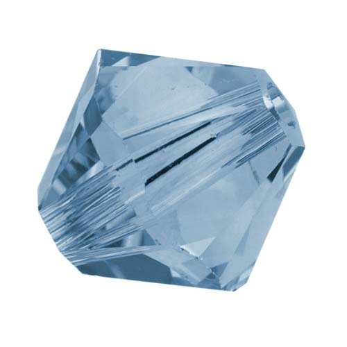 SWAROVSKI ELEMENTS Crystal #5328 6mm Bicone Beads 'Denim Blue' (20) Denim Beads