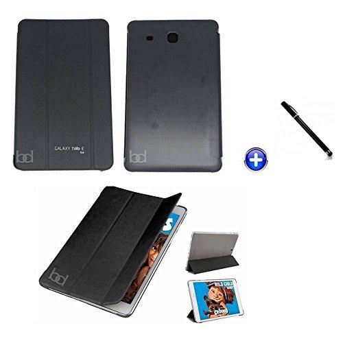 Capa Smart Book Case Galaxy Tab E - 9.6´ T560/T561/Caneta Touch (Preto)