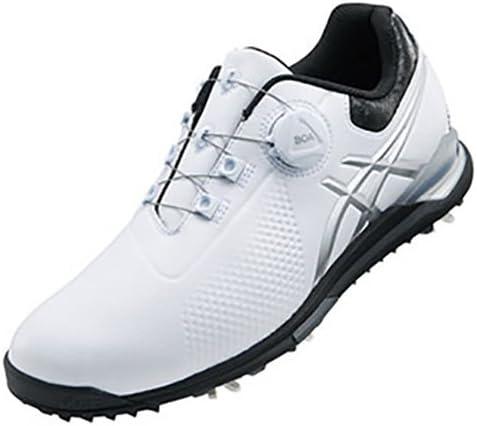 ゲルエース ツアー 3 ボア ゴルフシューズ メンズ TGN923 0190 ホワイト/ブラック 25.0cm