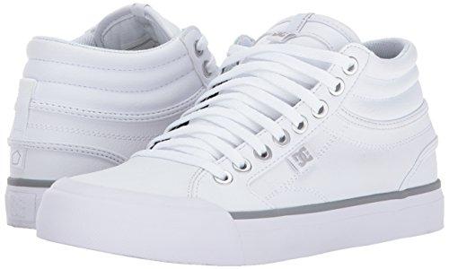 Mujer DC para Mujer para Hi Blanco Plateado Patinar Zapatillas Zapatos para Evan xpfwrIfYq