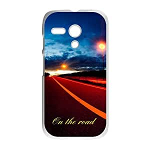 On the road ?Dreams are ahead The Road Less Traveled Custom case cover for Motorola G