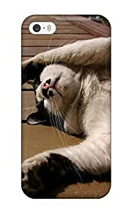 Fashionable Style Case Cover Skin For iphone 5c- Sleepy Cat Black And White Felines Animal Cat