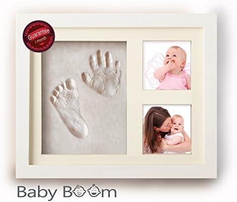 مجموعة طباعة يدوية للأطفال وإطار صور بصمة أقدام لحديثي الولادة من البنات والأولاد أفضل مجموعة هدايا استحمام للرضع للتسجيل وبصمة قدم الطفل زينة صندوق تذكارية لديكور الغرفة Amazon Ae