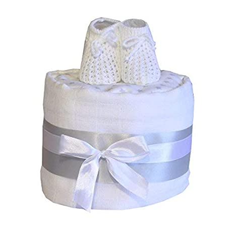 Baby Nappy Cake Gift Baby Shower Pink Birth Gift Maternity Leave Present