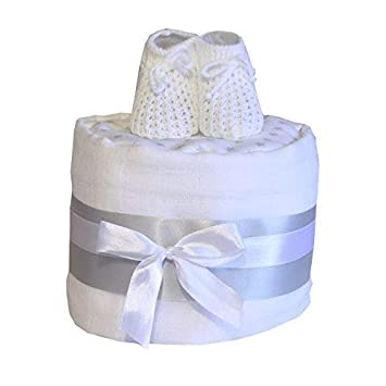 Baby Nappy Cake Gift Baby Shower Maternity Leave Present Birth