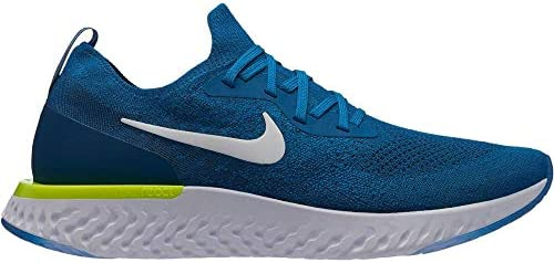 Nike Men s Epic React Flyknit Running Shoe Green Abyss White Blue Force Volt 12 M US