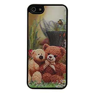 Mini - Bear Toys 3D Changing Pattern Protective Plastic Hard Back Case Cover for iPhone 5/5S
