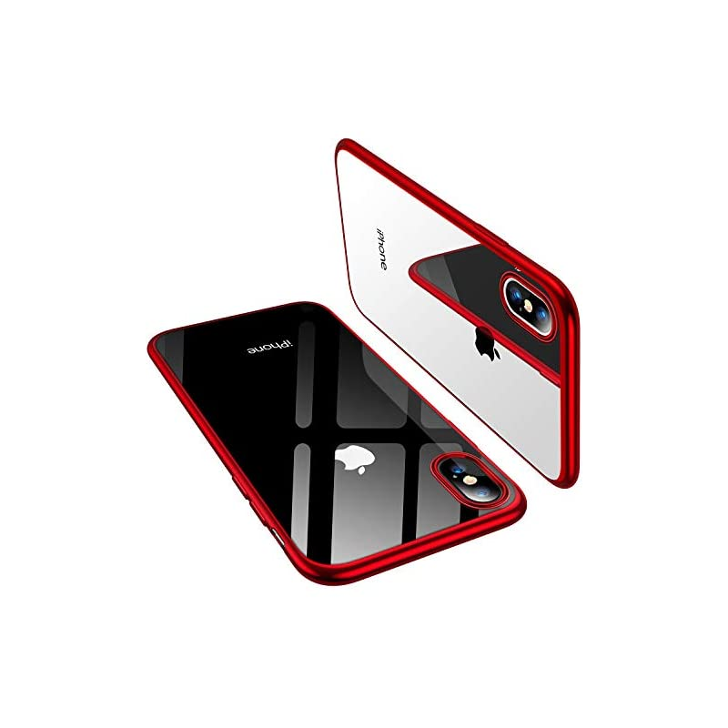 796b2970b0526b TORRAS iPhone Xs Case/iPhone X Case, Ultra Thin Slim Fit Soft Silicone TPU Cover  Case Compatible iPhone X/iPhone Xs 5.8 inch 2018, Red