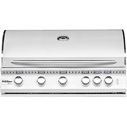 Summerset Sizzler Pro 40-inch 5-burner Built-in Natural Gas Grill With Rear Infrared Burner - Sizpro40-ng by Summerset