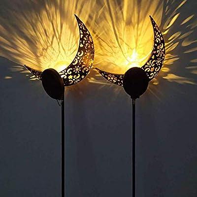 Lámpara Solar Para Césped, Luz Solar Al Aire Libre Decoración De Jardín Lámpara IP65 Sendero A Prueba De Agua Patio De Césped Lámparas Para Jardín Diseño De Luna De Menisco De Vidrio (