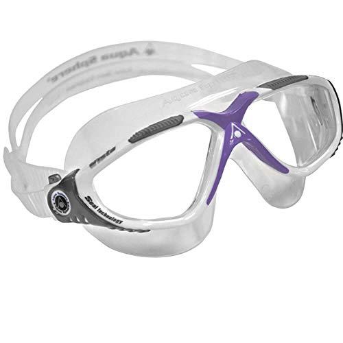 Aqua Sphere Vista Lady Swim Mask, White/Lavender