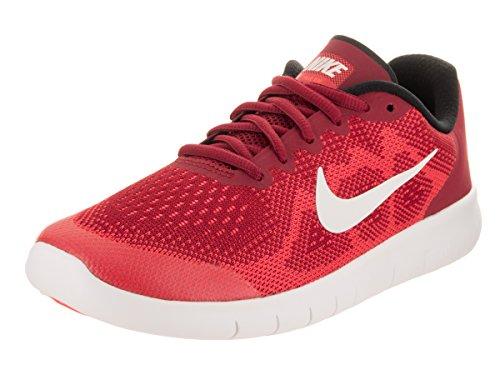 Nike Kids Free Rn (grande) Palestra Rosso / Bianco Sporco Traccia Rossa
