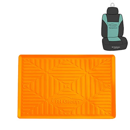 FH Group FH3011 Silicone Anti-Slip Dash Mat Smartphone iPhone, iPhone Plus, Galaxy, Galaxy Note Coin Grip, Orange Color - with Gift