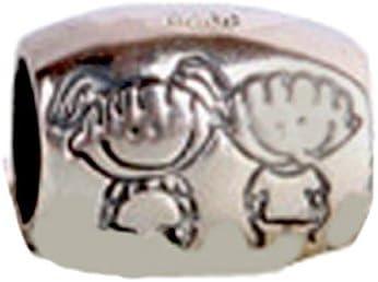 Amazon Com Poruni Girl Boy Kids Brother Sister Charm Bead 925 Sterling Silver Fits Pandora Charm Bracelet Jewelry