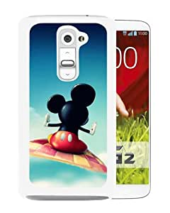 Individualization Mickey Mouse Flying White Special Custom Made LG G2 Cover Case