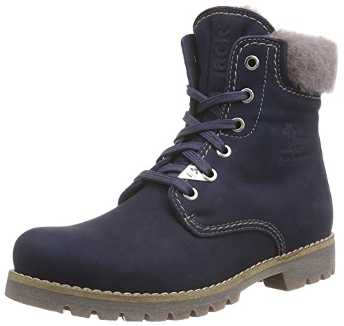 Panama Jack Women's Panama 03 Igloo Warm Lined Biker Boots Short Length Blue (Blue B8) X0GSw