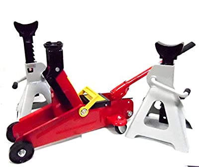 2 Ton Floor Jack and 3 Ton Jack Stand Combo