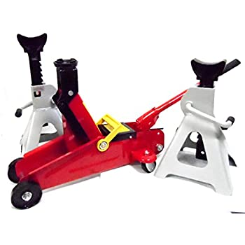 Amazon Com 2 Ton Floor Jack And 3 Ton Jack Stand Combo