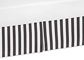 Amazon.: Sweet Jojo Designs Black and White Stripes Crib Bed