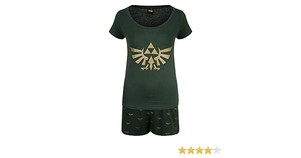Oficial de mujeres de leyenda de Zelda Hyrule Logo Shortama pijama Set - regalo de las señoras: Amazon.es: Ropa y accesorios