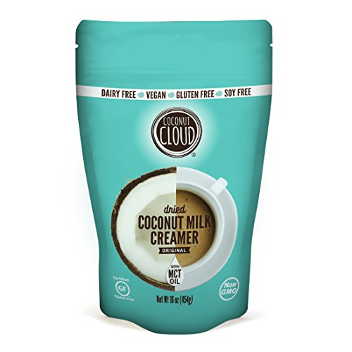 Coconut Cloud Non Dairy Coffee Creamer: with MCT Oil, Vegan, ORIGINAL flavor,NEW LARGER 16 ounce size by Coconut Cloud