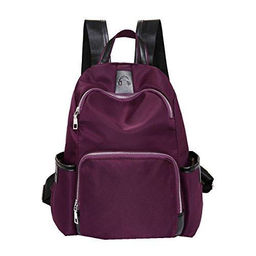 Yy.f Nueva Bolsa De Nylon Impermeable Del Hombro Bolsos De Mano Mochila De Moda Fresco De La Mujer Bolsas 3 Colores Purple