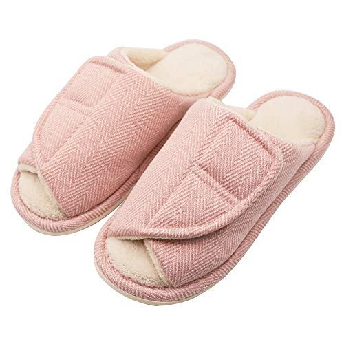 Women's Plantar Slippers Foot Flat Wide Slippers Swollen Pink Diabetic Orthopedic Edema Fasciitis Extra Feet Bunions rqwfrHXxT