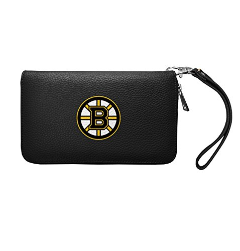 Bruins Wallet Boston Leather - NHL Boston Bruins Zip Organizer Pebble Wallet